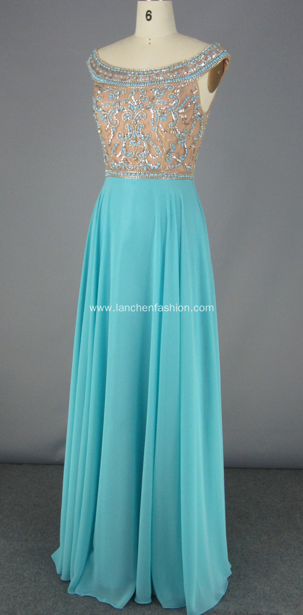 Exquisite Beading Chiffon Dress for Formal Occasion