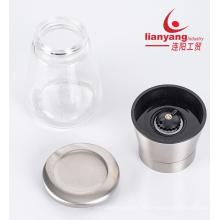 Glasgefäß manuelle Salz- und Pfeffermühlen-Mühle-Set