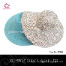 lady flat top straw hat