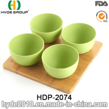Varios colores Biodegradable de bambú fibra Bowl (HDP-2074)