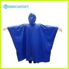 Azul adulto PVC resistente al agua Poncho Rvc-186