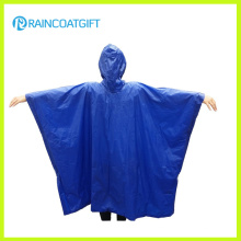Blauer PVC-Regenmantel Poncho Rvc-186