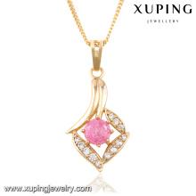 32667 Fashion Elegant Rhinestone CZ 18k Gold-Plated Imitation Jewelry Chain Pendant