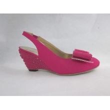 2016 novo design senhoras sandálias pedaço (hyy03-093)