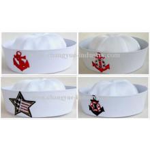 Factory making white cotton sailor seaman cap hat