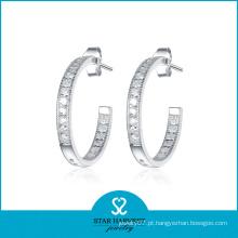 Brincos de aro mais vendidos prata 925 (SH-E0078)