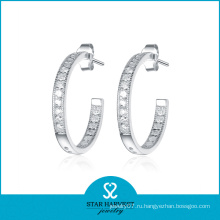 Самые продаваемые серьги обруча Silver 925 (SH-E0078)