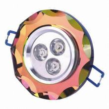 3W High Power LED Downlight, AC 85-265V, Aluminum + Crystal Materials