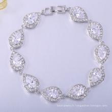 bijoux de mode 2018 bracelets de diamants en argent sterling pour les filles
