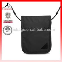 portefeuille imperméable de cou de voyage d'identification de sécurité de RFID de polyester pour le passeport (HCSD0006)