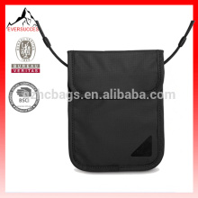 waterproof polyester RFID security ID travel neck wallet for passport (HCSD0006)
