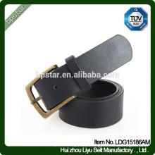 Men's Black Wide Real Leather Metal Buckle Waistband/cintos de couro cinto de couro para homens