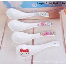 SP1538 Haonai Goodlooking impresión cuchara de cerámica, cuchara de cerámica de sopa