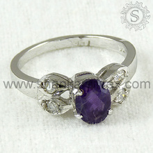 Bridal silver ring jewelry multi gemstone 925 sterling silver jewelry wholesale supplier india