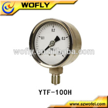 Quality OEM 4inch low pressure gauge for gas