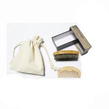 novo design OEM kit de barba escova de barba de cerdas de bambu