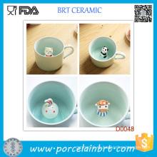 Taza de porcelana elegante superventas con animalito