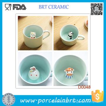 Best-seller Tasse élégante en porcelaine avec petit animal