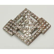 Diamond Shoe Buckle with Nickel Tone