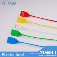 Selo de plástico com trava de segurança para impressão a quente