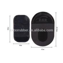 Estera negra del coche del resbalón de la PU, estera anti del coche del resbalón de la PU con la insignia