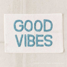 Strong absorbent Good vibes letter style towel for home bath mat BM-002