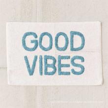 Absorvente forte boa vibes carta estilo toalha para casa banho tapete BM-002