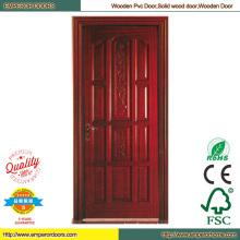 China puerta de madera maciza puerta francesa Pintura Interior puerta