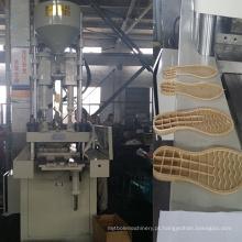 Máquina de moldagem por injeção vertical de alta eficiência para sola de sapato