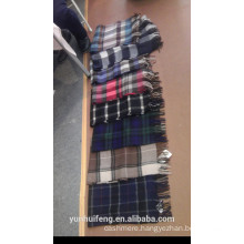 pure cashmere checks scarf