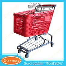 best selling brighten color types of plastic super market shopping cart