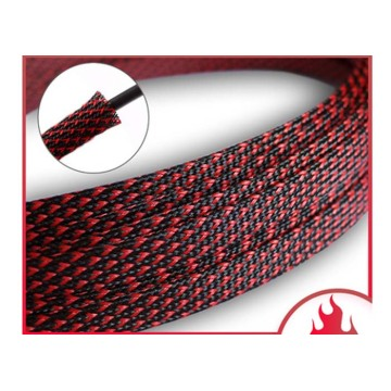 Automotive Red Braided Sleeve For Wire Ends
