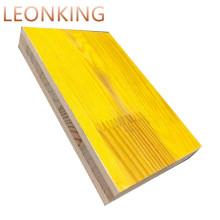 3 ply yellow melamine spruce panels / ply board formwork  /QINGE LEONKING three ply shuttering panel factory