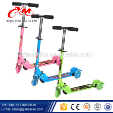 Top quality 2 wheel hand brake kids kick scooter/push top pro child scooter new model/2017 flashlight scooter child seat