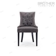 Chaise de salle à manger de couverture de velours arrière touffeté moderne de haute qualité