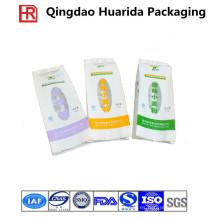 Impresión personalizada fideos de almohada plástica bolsas de embalaje para alimentos