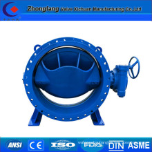Double eccentric electric actuator butterfly valve
