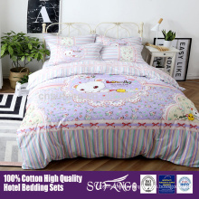 100% cotton bedding for babies and kids/ high quality custom design fabric printing and dovet cover for kids bedding