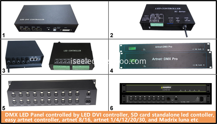 DMX 512controller for the DMX LED Panel Light