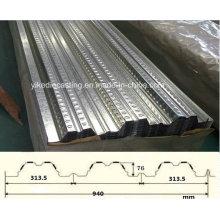 Placa de piso de acero galvanizado PPGI (YX76-313.5-940)