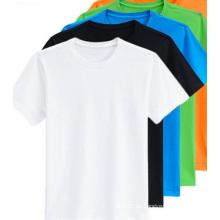 OEM de alta calidad hombres Tops hombres negros Short Tees Hombres camiseta