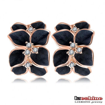 3 Colors Flower Floral Enamel Women Earrings (ER0099)