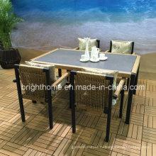 2016 Новый дизайн обеденного стула и столовой плетеной садовой мебели
