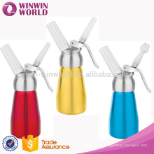 New Modle Dessert Tools 250 ML Aluminum Custom Colored Whipped Cream Dispenser