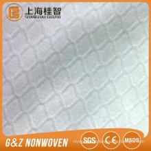 não tecido tecido 100% poliéster em relevo E estilo spunlace tecido não tecido