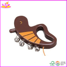2014 New Hand Rattle, Popular Wooden Hand Rattle and Hot Sale Promotion Wooden Hand Rattle W07I035