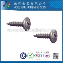 Made in Taiwan Carbon Steel #8 X 5/8 Zinc Plated Mushroom Head Self Tapping Screw