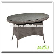 Mesa de jantar luxuosa de Audu, mesa de jantar em forma de xadrez oval grande de 180 cm