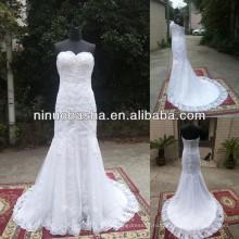 СЗ-477 новый дизайн аппликации Русалка реальный образец свадебное платье 2014