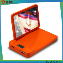 Wholesale New Design Fashionable Cosmetic Mirror 4000mAh Battery Charger Portable Power Bank